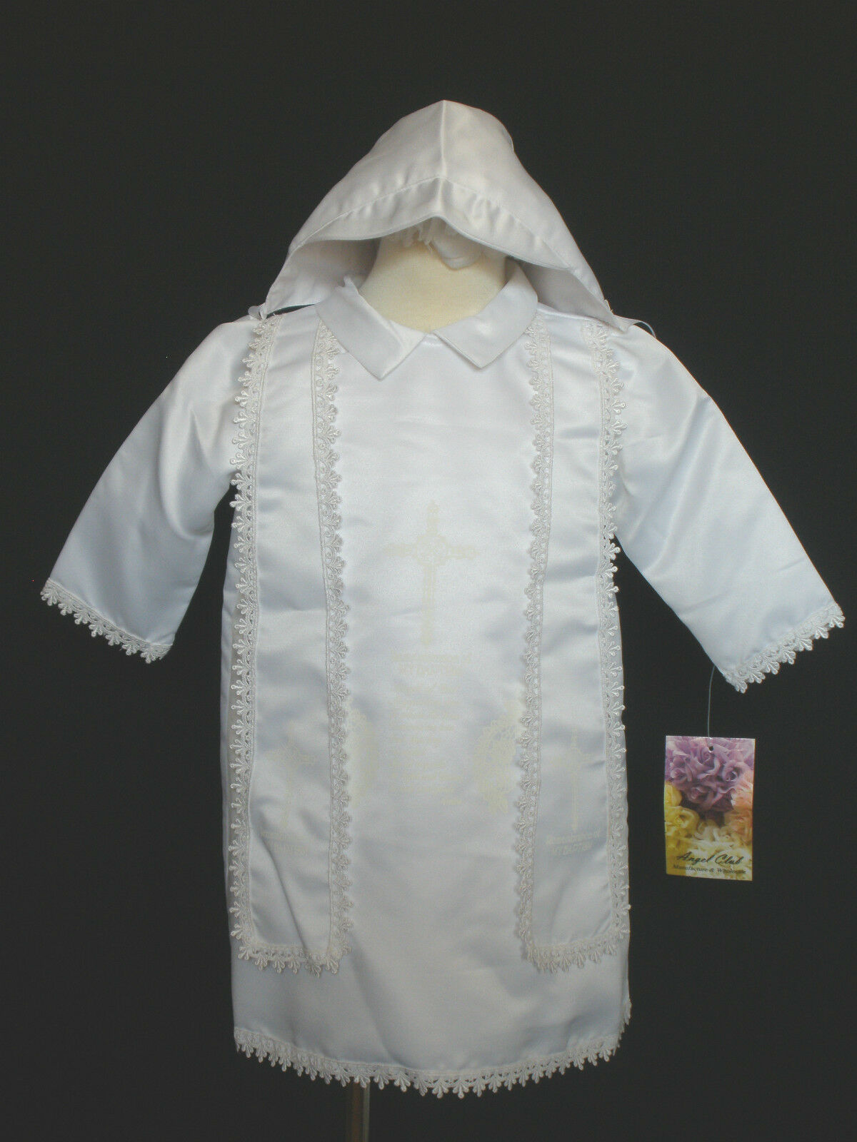 Baby Boy Toddler Christening Baptism Gown White Size Born to 24 ...