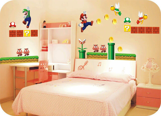 Super Mario Giant Removable Wall Decor Vinyl Decal Stickers Nursery ...