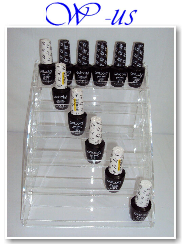 Nail Polish Table Rack Acrylic Display Hold up to 36 Bottles /opi ...