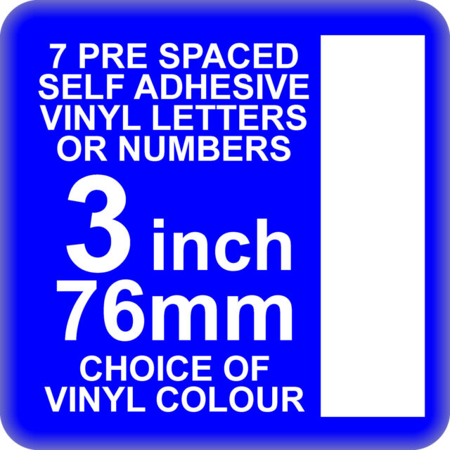 X Inch Or Mm Self Adhesive Vinyl Letters Or Numbers White EBay - Self adhesive vinyl letters