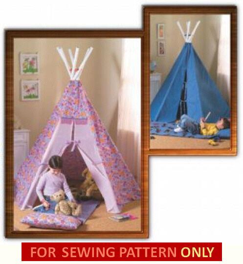 Sewing Pattern Sew Make Kids Play Teepee Tent Tee Pee TP Tepee | eBay