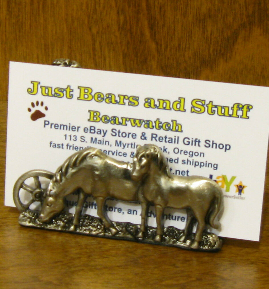 Pewter Business Card Holder #h044 Horses MIB Welforth From Retail | eBay