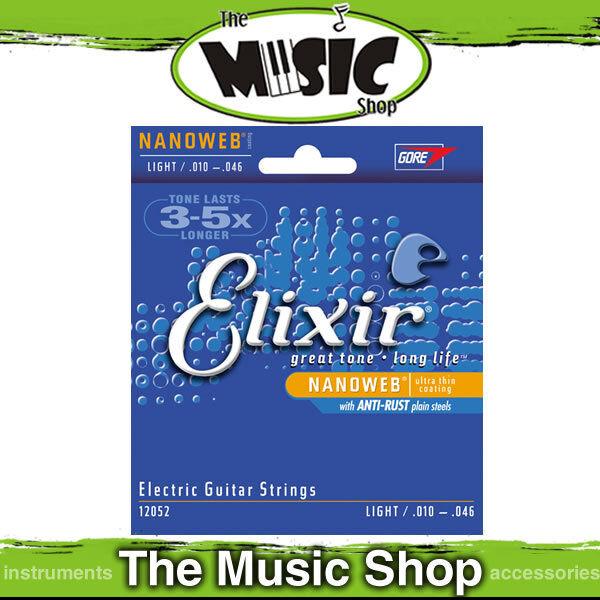 12 Sets of Elixir Nanoweb 10-46 Coated Electric Guitar Strings - 12052, Bulk Box