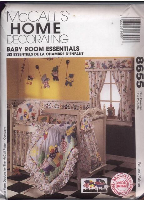 8655 Uncut McCalls Sewing Pattern Baby Room Head Board Bumpers Baby ...