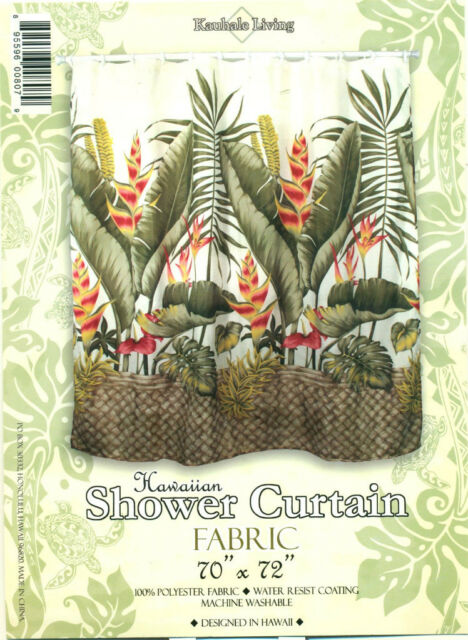 Hawaiian Tropical Fabric Shower Curtain (hawaiian Flower) | eBay