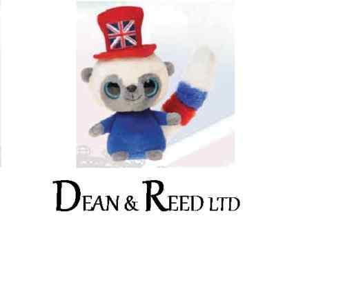 "YooHoo and Friends 5"" Bush Baby Union Jack Hat Plush Cuddly Soft Toy By Aurora"