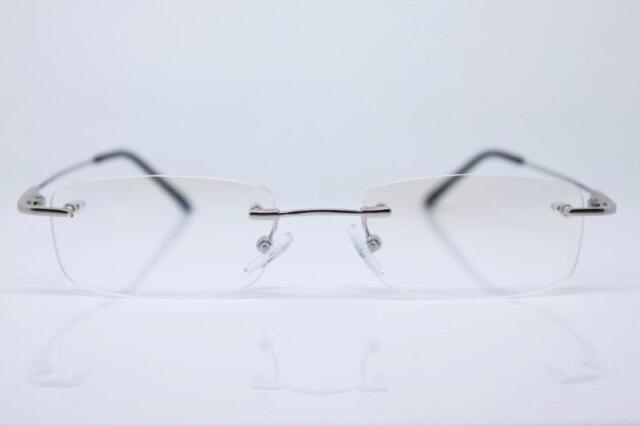 Magic Arms Rimless Glasses Frame Alloy Titanium | eBay