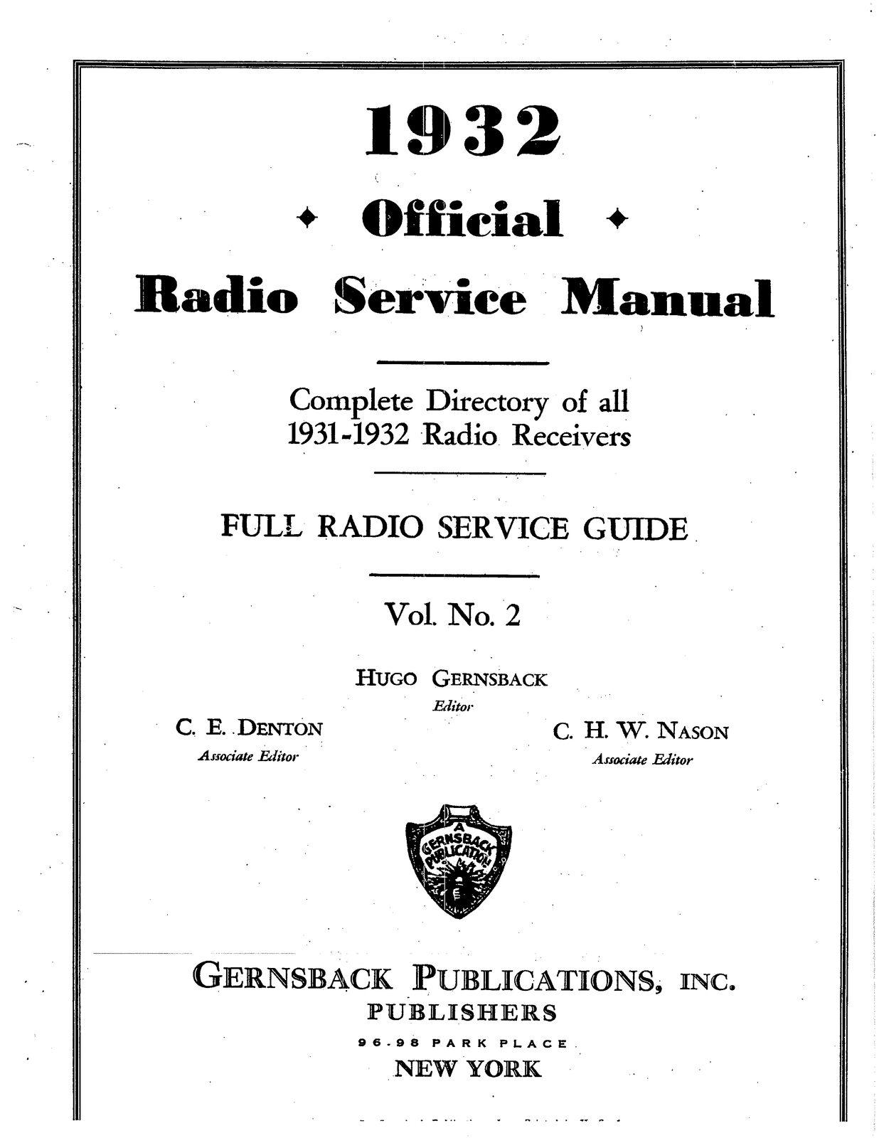 HUGE Radio Service Schematics Full Set Hugo Gernsback Volumes 1 Thru ...