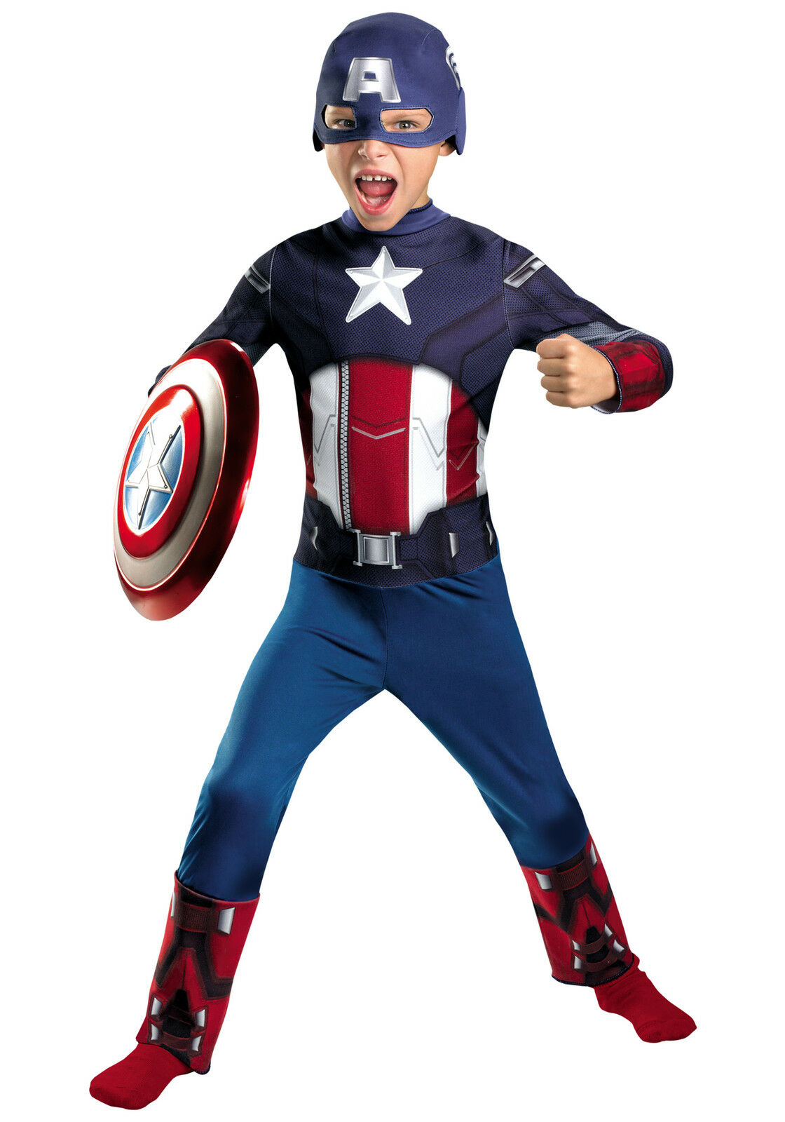 disguise boy's classic captain america avengers costume 43628l | ebay