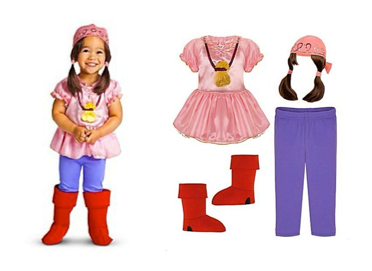 Picture 1 of 2 ...  sc 1 st  eBay & Disney Izzy Costume Set - Jake in The Never Land Pirate - Halloween ...