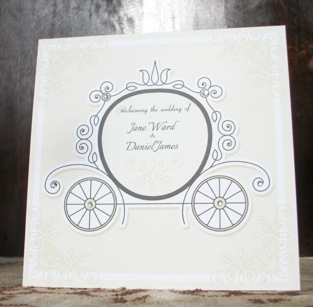 victorian fairytale traditional size wedding invitations cinderella