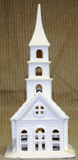 Special Ceramic Bisque Village Church Steeple Only Byron