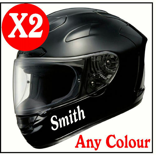 X Custom Helmet Vinyl Stickers Honda GSXR BMW BSA EBay - Helmet custom vinyl stickers