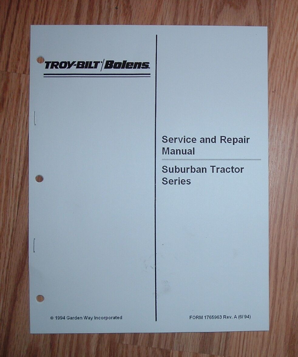 ... Array - bolens suburban tractor service manual see pictures for models  rh ...