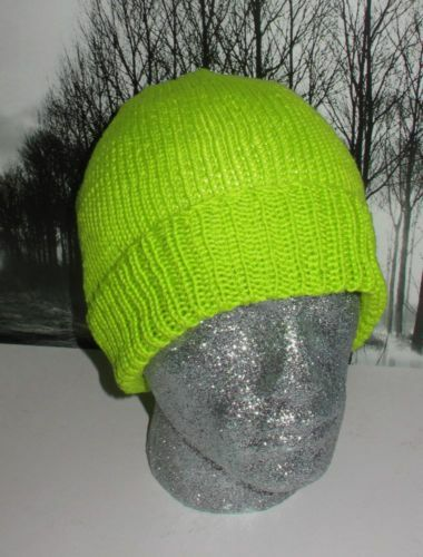 Printed Instructions Simple Dk Beanie Hat Knitting Pattern By