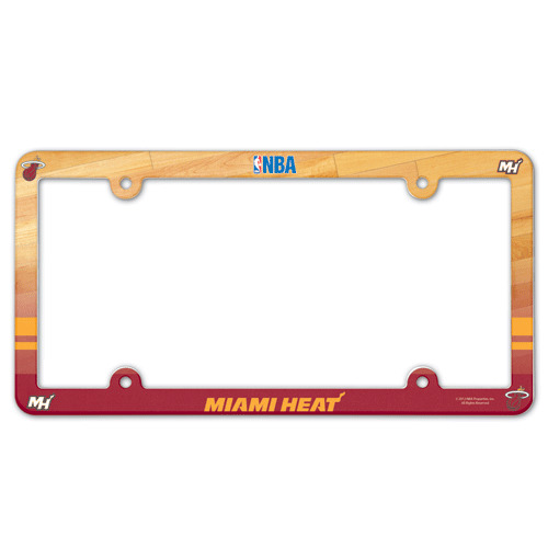 picture 1 of 1 - Miami Heat License Plate Frame