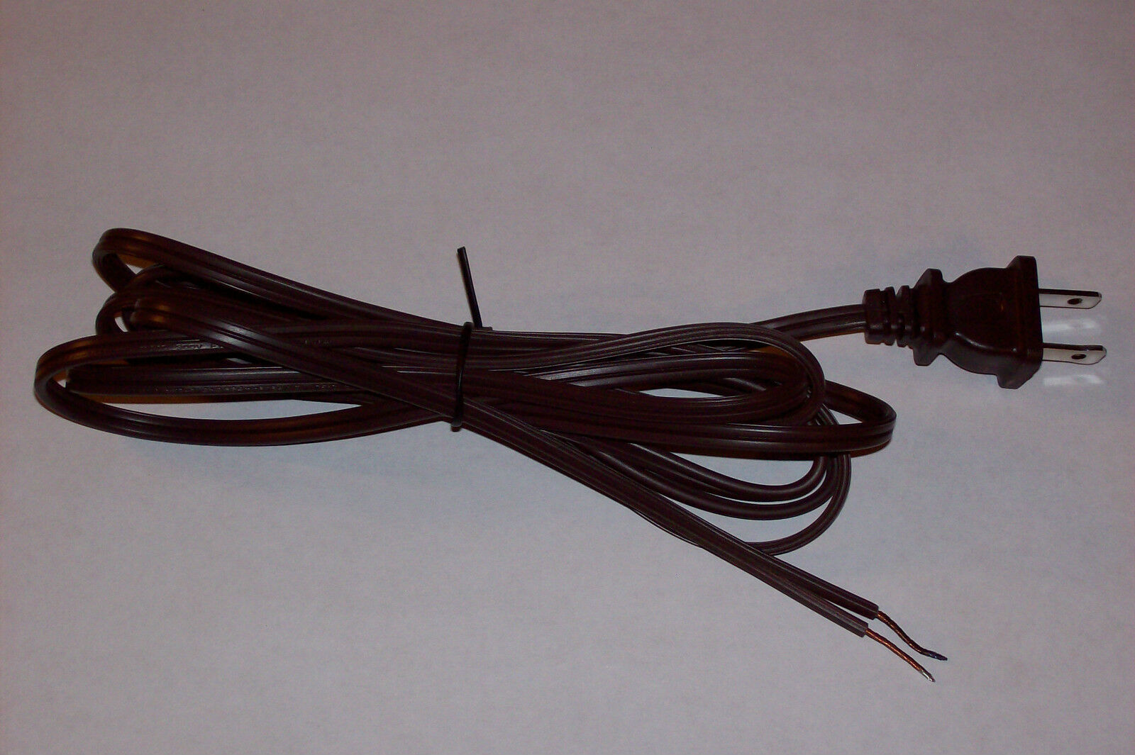 8 Brown Lamp Cord With Polarized Plug 18 2 SPT 1 Lamp Part 30246 J ...