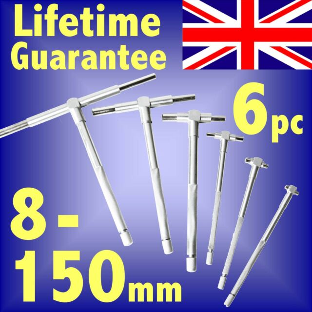 6pc Telescopic Gauge Set 8 - 150mm cylinder bore telescoping id internal inside