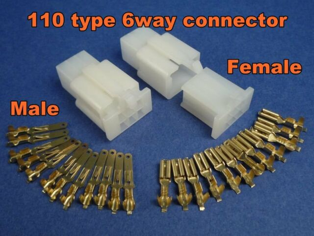 6 pins electrical wire connector terminal wiring motorcycle atv 1 rh ebay com 110 China ATV Utility Chinese ATV Parts Diagram