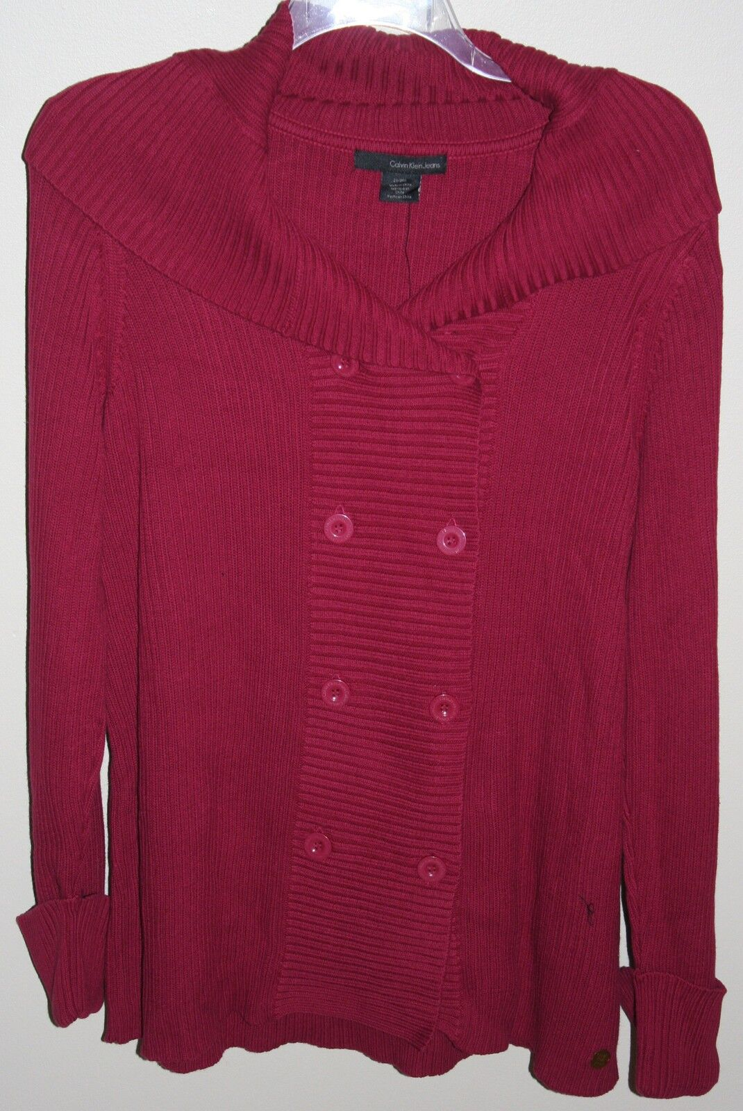 Calvin Klein Plus Berry/red Cardigan Sweater Size 2x | eBay