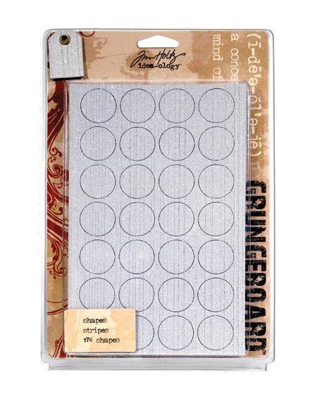 Tim Holtz Grungeboard 176 Shapes 9 Pages Scrapbook Plain Harlequin