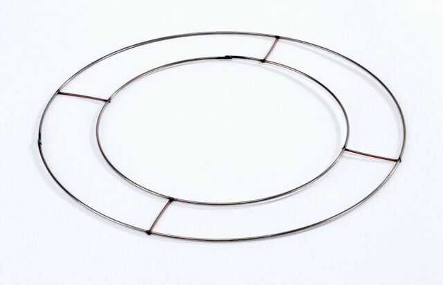 Flat Wire Round Wreath Rings Christmas Holly Xmas Pine Wreath Make Your Own