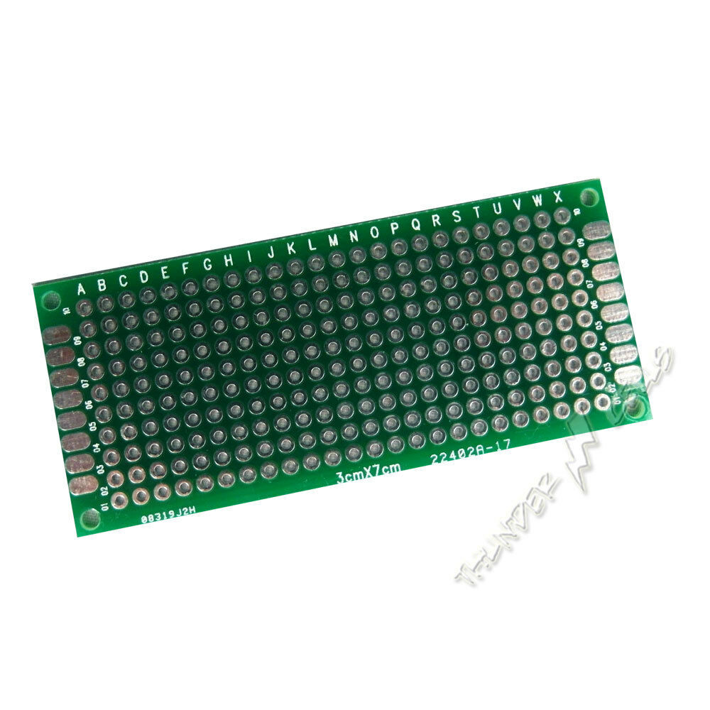 2 X Double Side Plated 3x7 Cm 30x70 Mm Prototype Blank Universal Pcb Stripboard Price Protoboard Circuit Board Brand New Lowest