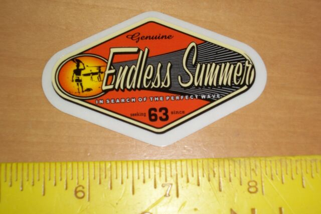 Vtg endless summer surf surfing surfboard beach woody woodie wagon sticker decal