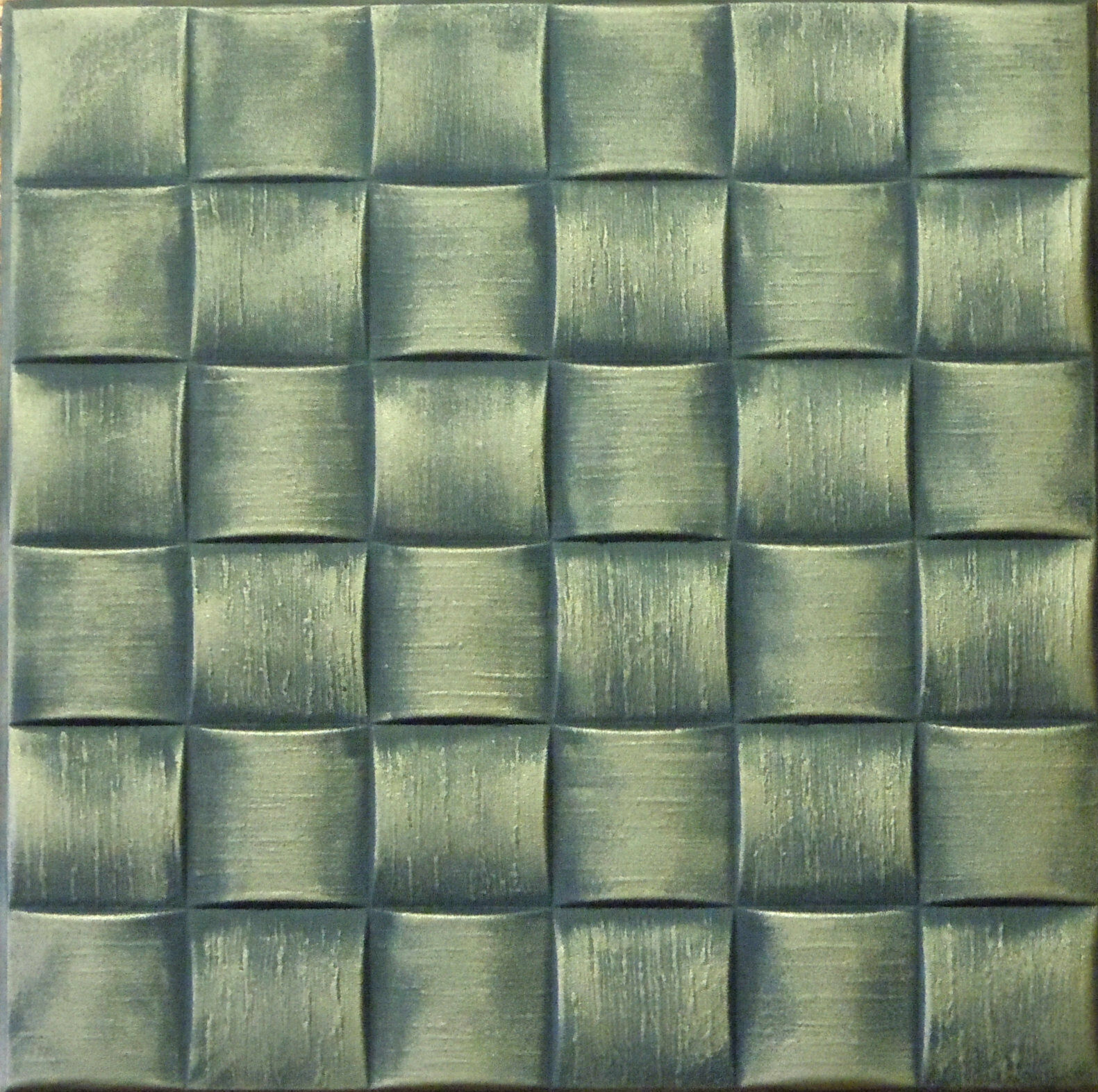 Decorative Texture Ceiling Tiles Glue Up R25 Antique Brass On Ebay