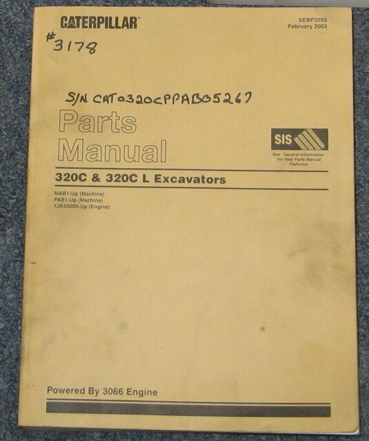 Excavator Cat 320 manual
