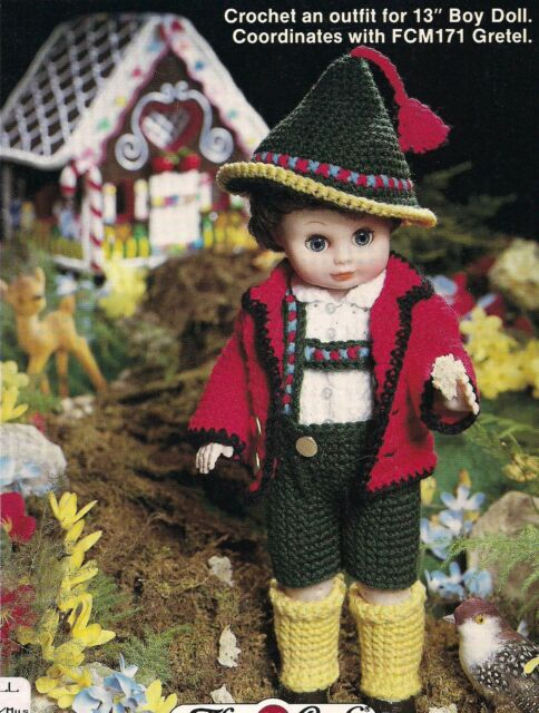 Hansel Fibre Craft Male Doll Clothes Crochet Pattern Fcm170 30 Day