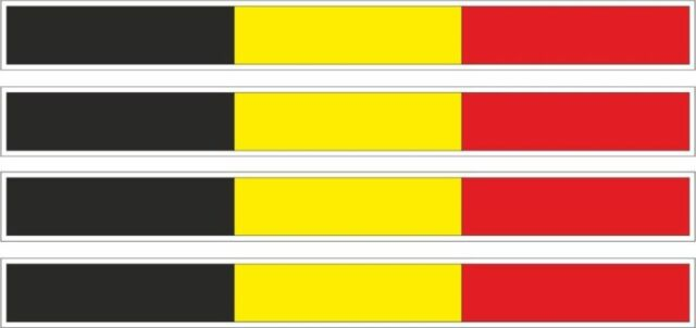 4x belgium sticker stripe flag decal bumper bike moto