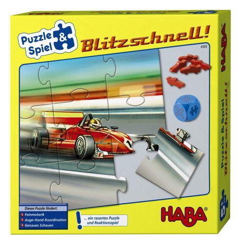HABA Blitzschnell Puzzle & Spiel 4303 Ab 5 Jahre + BONUS