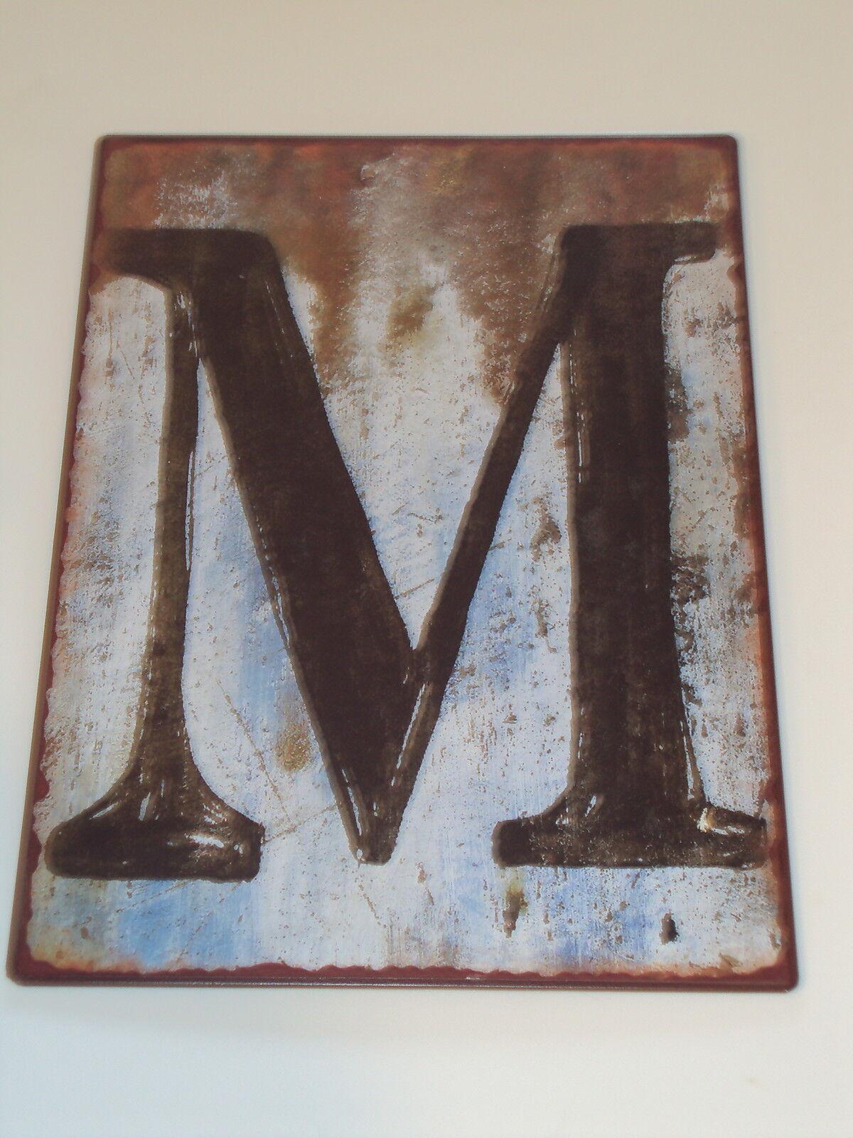Tin Alphabet Letters Rustic Metal Letters Signs Alphabet Letter C  Ebay