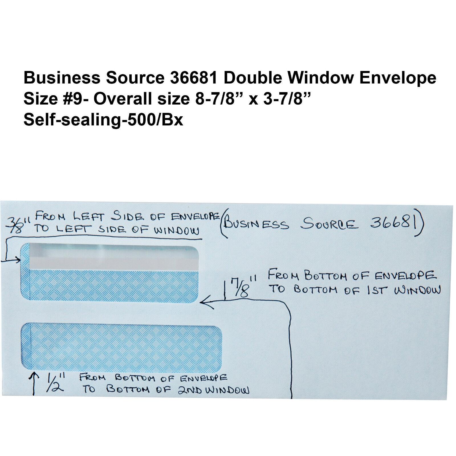 Business Source No Double Window Invoice Envelopes EBay - 9 invoice envelopes