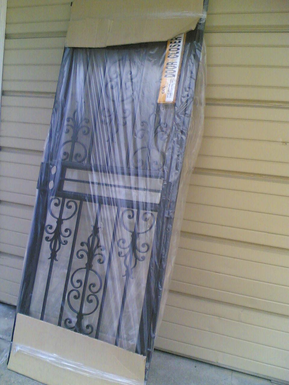 30x80 Metal Security Storm Door & Frame Full Glass Closer Kit | eBay