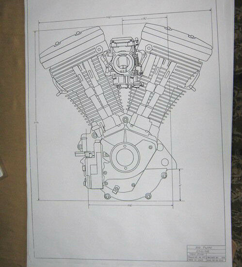 Harley davidson 80 ci evolution engine blueprint hd poster print harley davidson 80 ci evolution engine blueprint hd poster print motorcycle 1340 ebay malvernweather Images