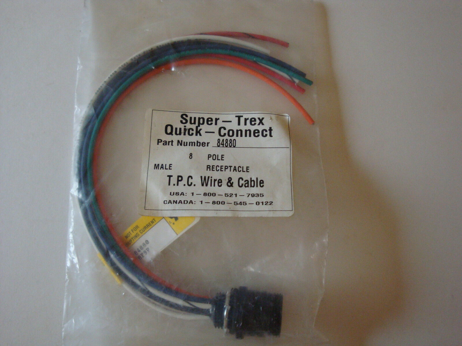 TPC Wire & Cable 8p Male Receptacle 84880 NNB | eBay