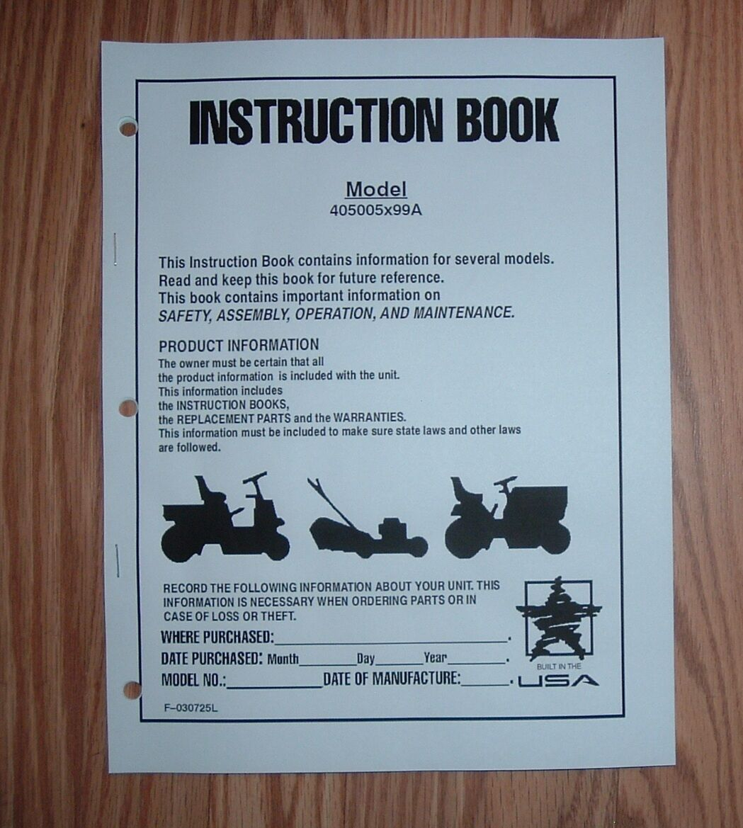 murray owner manual sample user manual