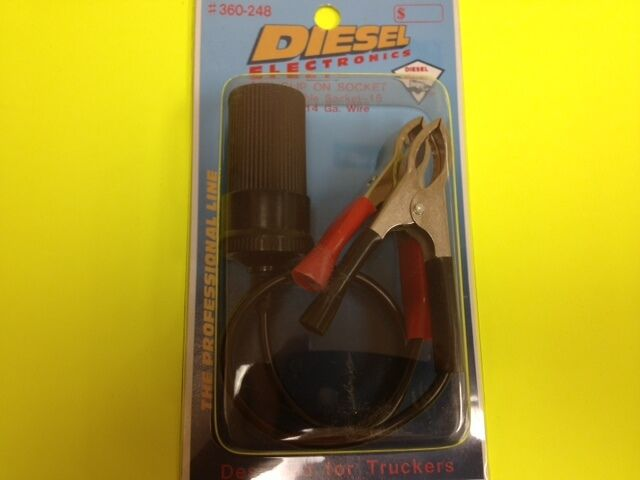 Diesel 360-248 Cigarette Lighter 12v REPAIRABLE Socket W/ 14 GA Wire ...