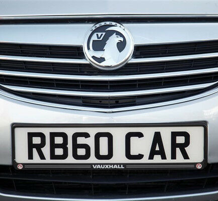 Richbrook 'Official Licensed' Vauxhall Car Number Plate Surround