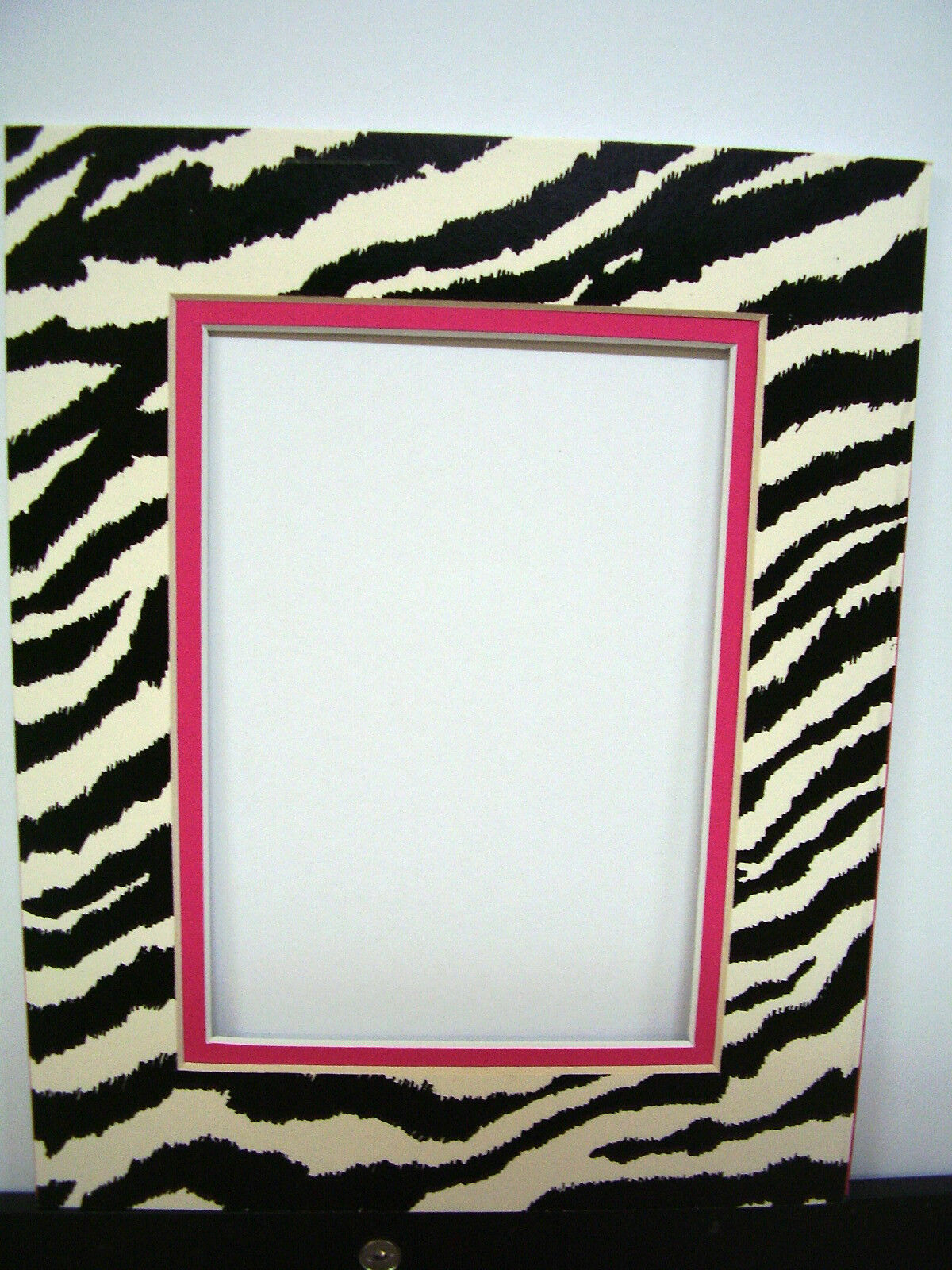 Picture frame double mat 8x10 for 4x6 photo zebra black white hot picture 1 of 2 jeuxipadfo Gallery