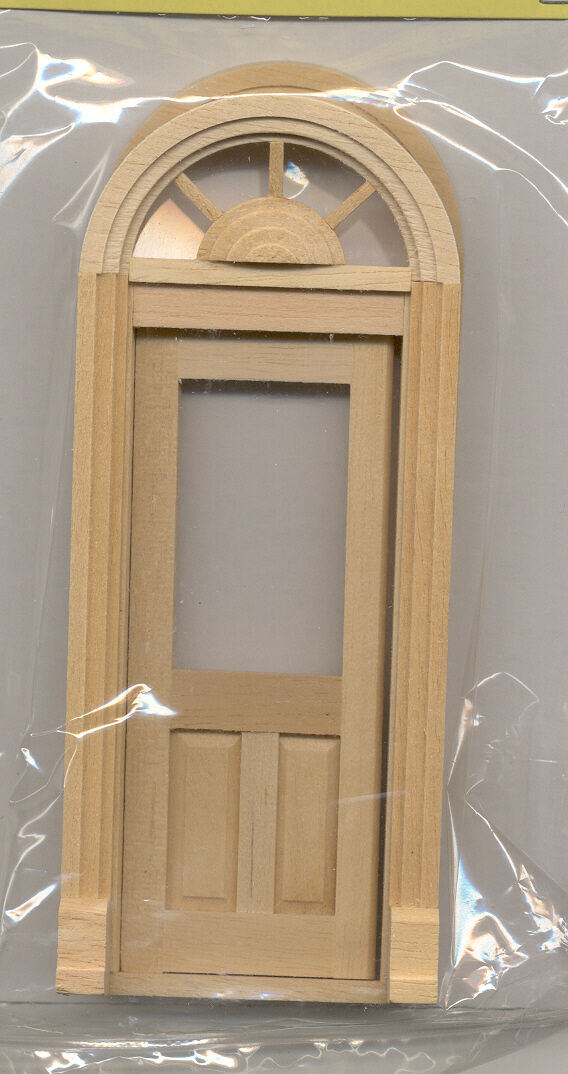 Picture 1 of 2 ... & Half Scale Palladian Door 1 24 Dollhouse Miniature Wooden #h6015 ...