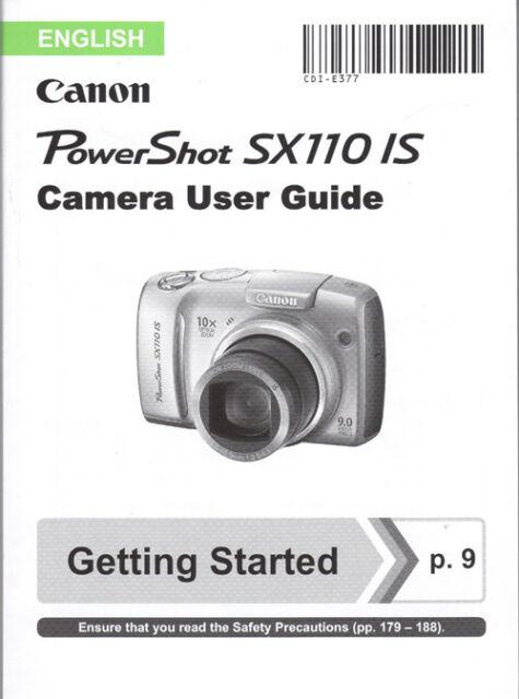 canon powershot sx110 is digital camera instruction manual ebay rh ebay co uk canon sx110 service manual canon powershot sx110 user manual