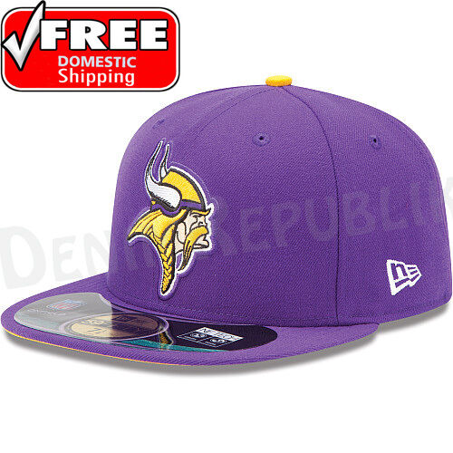 82d603b90 ... 50% off new era 5950 minnesota vikings nfl on field game cap purple  fitted hat