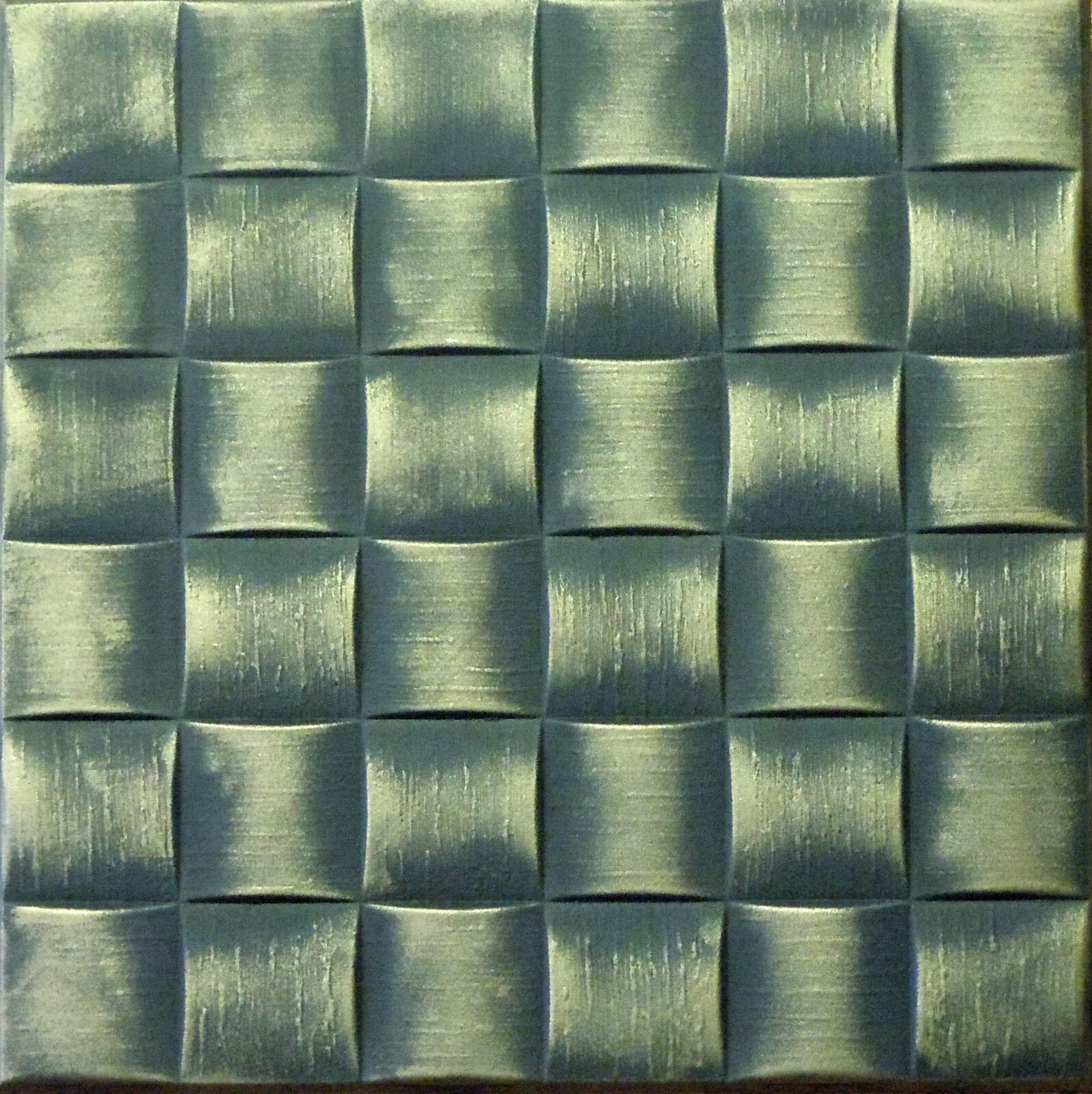 Decorative texture ceiling tiles glue up r25 black brass on ebay picture 1 of 3 dailygadgetfo Gallery