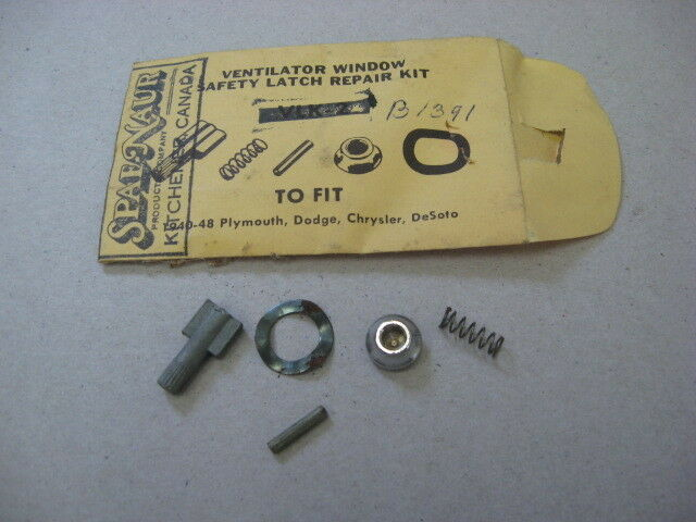 Picture 1 of 1 & Vent Window Latch Repair Kit 1940 -48 DeSoto CHRYSLER Dodge ... pezcame.com