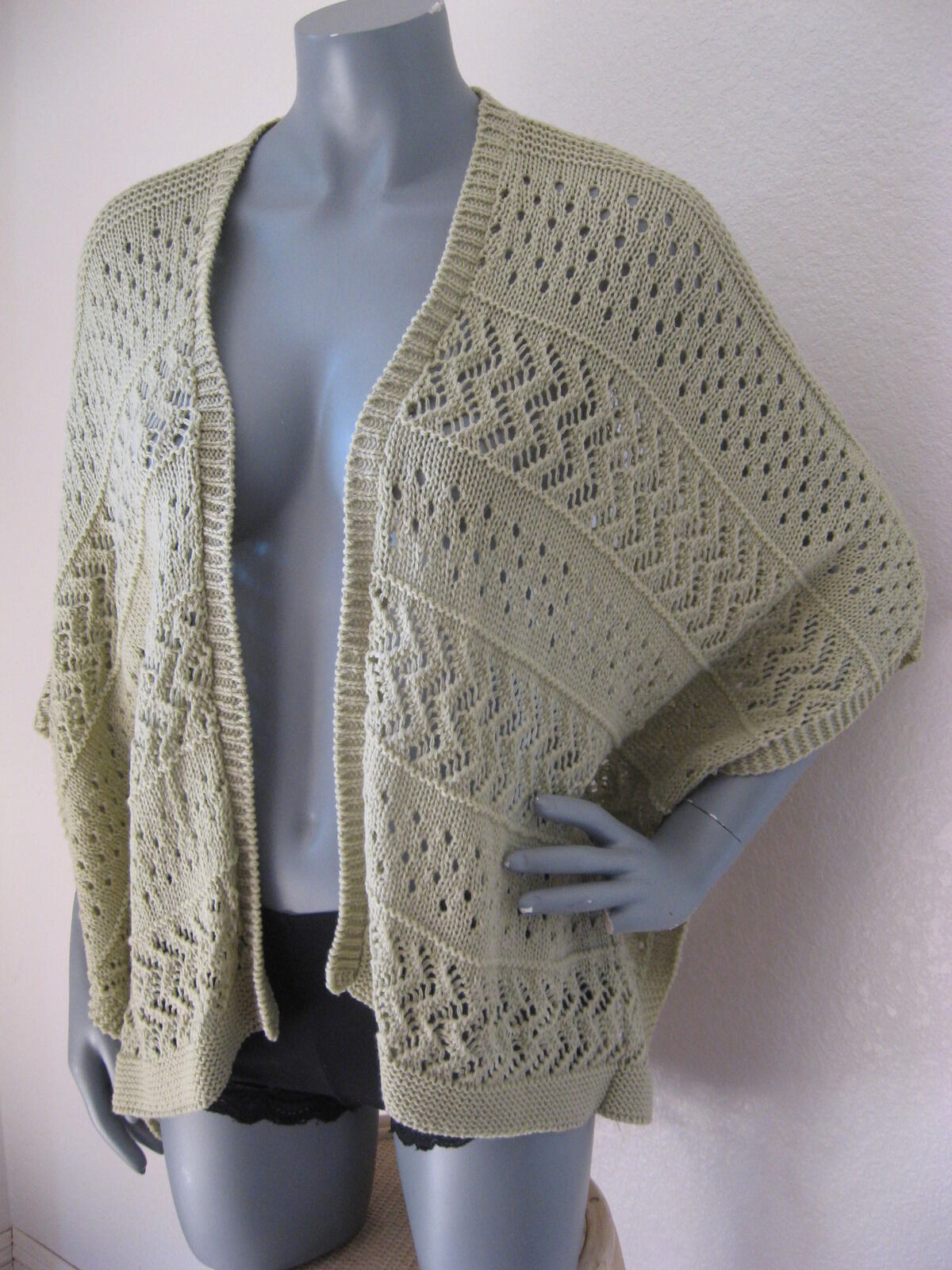 Womens Canyon River Blues Size M Khaki Tan Pointelle Cape Cardigan ...