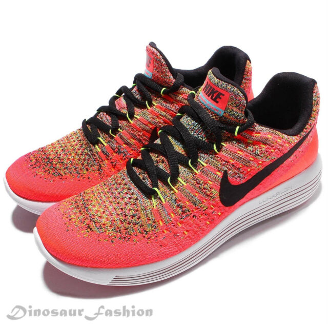 Nike LUNAREPIC LOW FLYKNIT 2 GS (869989-600) Girls Grade RUNNING Shoes.