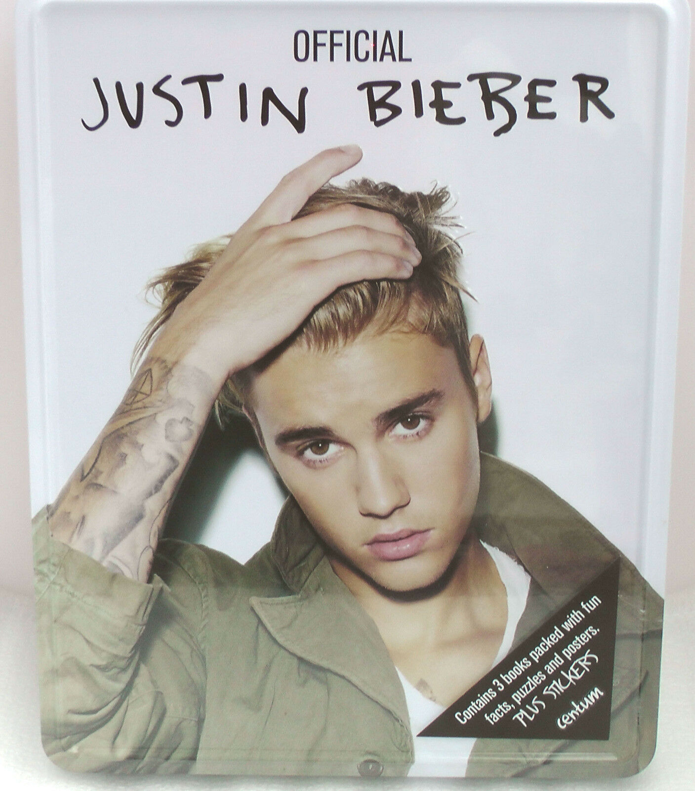 Uncategorized Justin Bieber Puzzle justin bieber gift tin of 3 books containing facts puzzles posters picture 1 3